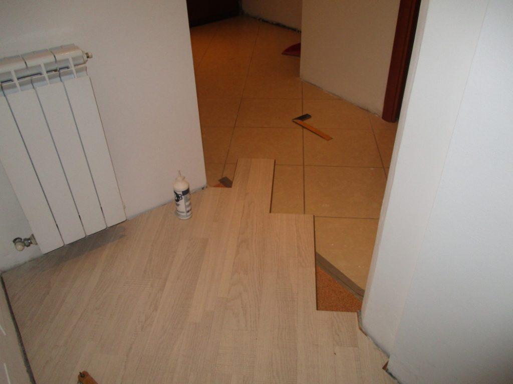 parquet laminato ac5 con sottopavimento in sughero