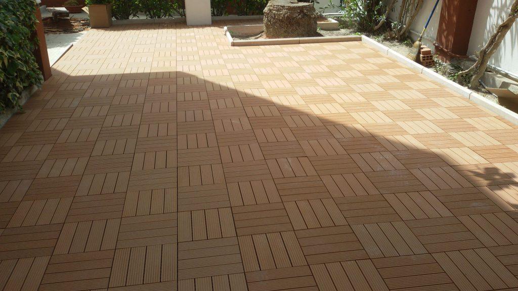 pavimento per esterno in composito realizzato a cagliari