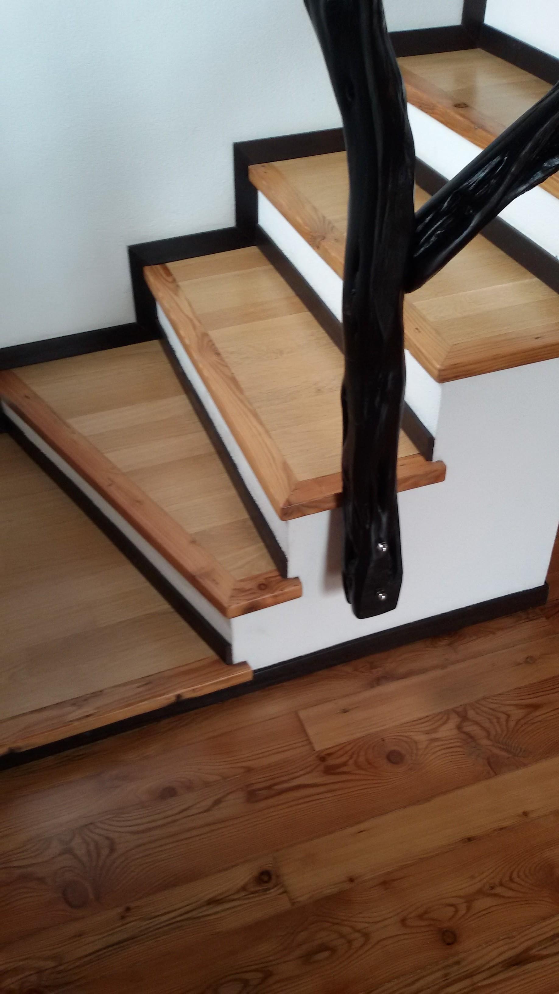Possibilità di rivestire gradini di scale in parquet